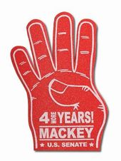 4 More Years Foam Hands