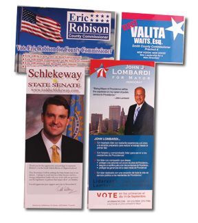Palm Cards and Push Cards to Get Your Political Campaign Started
